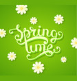 spring time concept with flowers vector image vector image