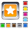 Star square button vector image vector image