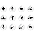 Stickers with Canada symbols vector image vector image