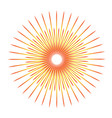 sunburst emblem isolated icon design vector image
