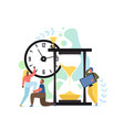 time is up concept flat style design vector image