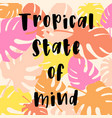 tropical card for invitation greeting card vector image vector image