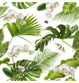tropical orchid white pattern vector image vector image