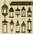 Vintage lamp II vector image vector image