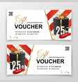 white gift voucher template for department stores vector image vector image