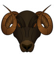 cartoon head of a ram vector image