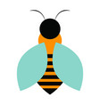 abstract cute bee vector image