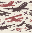 airplane retro seamless template vector image