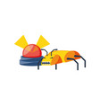alarm light emergency with insect vector image vector image