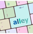 alley words concept with key on keyboard vector image vector image