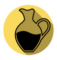 amphora sign flat black icon with flat vector image vector image
