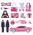 arabic muslim women that have permission for vector image