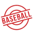 Baseball rubber stamp vector image vector image