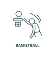 basketball line icon linear concept vector image vector image