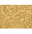 Beautiful brown vine art pattern background vector image vector image