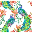 Beautiful peacock pattern Peacocks and vector image vector image