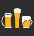 beer glass mug or bottle vector image vector image