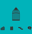 bird cell icon flat vector image vector image