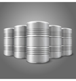Blank realistic blank big oil barrels isolated on vector image