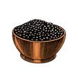 bowl black pepper in vintage style mortar vector image vector image
