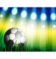 Brazilian Football Background Design vector image