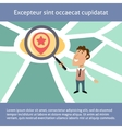 Business man location search concept vector image