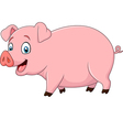 Cartoon happy pig isolated on white background vector image vector image