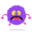 cartoon happy surprised monster vector image vector image