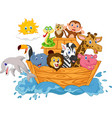 cartoon noah s ark isolated on white background vector image vector image
