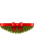 Christmas decoration on white background vector image vector image