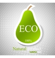 concept with pear vector image vector image