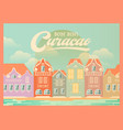 curacao background vector image