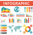 demographic infographics set vector image
