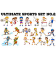 Different kind of sports vector image vector image