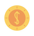 dollar coin icon image vector image vector image