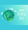 earth day banner for environment safety vector image
