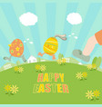 ester eggs running vector image