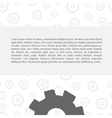 Gears pattern with text vector image