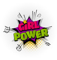 girl power woman comic book text pop art vector image vector image