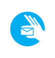 handed mail logo vector image