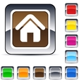 Home square button vector image vector image