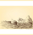 iceberg on the ocean drawing vector image
