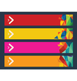 infographic options banner vector image vector image