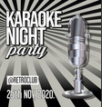 karaoke party retro vintage poster 03 vector image