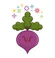 kawaii smiling beet cartoon vector image