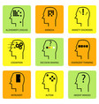 line art icon of human mind vector image vector image