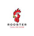 line art rooster head logo design icon vector image vector image