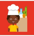 little chef kids menu vector image