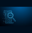magnifying glass and barcode icon vector image