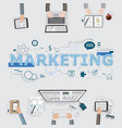 marketing team meeting for brainstroming business vector image vector image